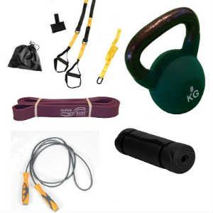 køb det funktionelle træningssæt til at skabe en god allround træning foran fjernsynet