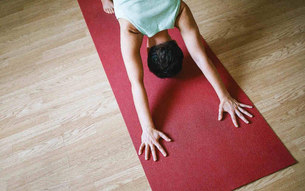 Yoga et kvarter om dagen for den gode træning