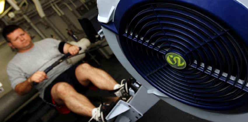 hvilken muskler bruger man på en romaskine