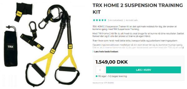 køb trx slyngetræner sæt til hjemmetræning
